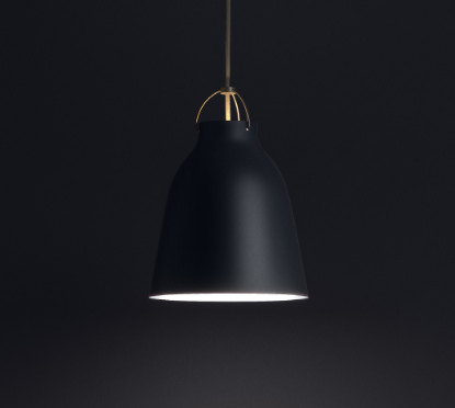 Ankur Caravaggio Aluminium Deep Dome Hanging Light - Ankur Lighting