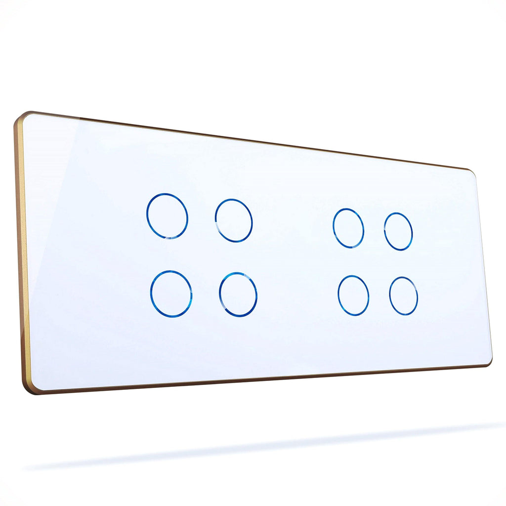 Hogar Smart Eight Touch Switch Panels With Built-In Automation - Ankur Lighting