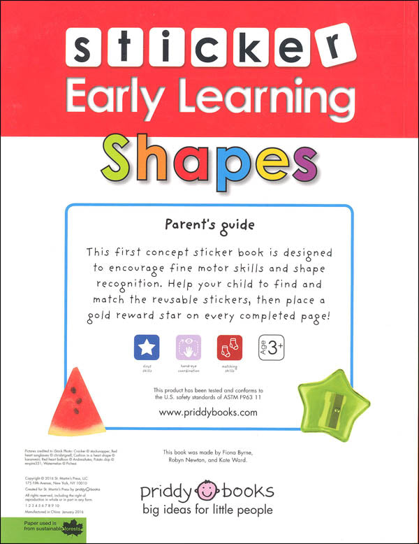 Sticker Early Learning: Shapes (Paperback Book)
