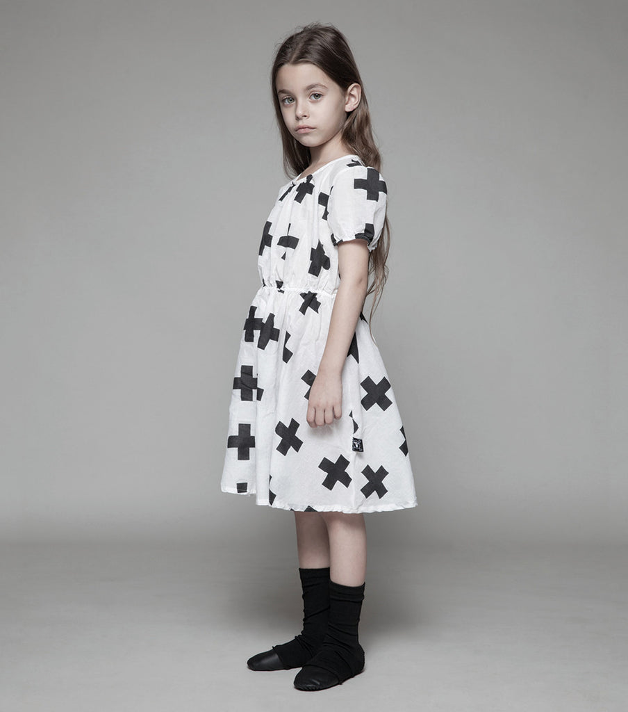 White Doll Cotton Dress - Oh Happy Fry  - 2