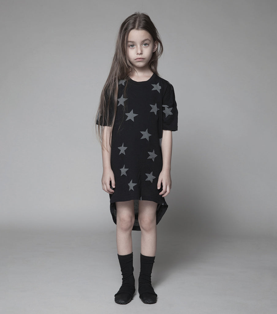 White Star Tunic Dress - Oh Happy Fry - we ship worldwide