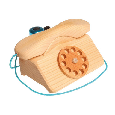 Grimm's Wooden Telephone with Bell - Oh Happy Fry - we ship worldwide