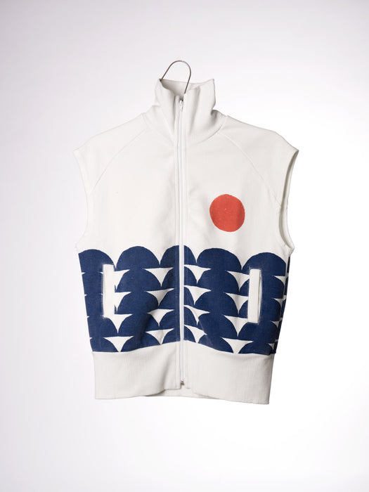 S/L Zip Sweatshirt Rowing - Oh Happy Fry - we ship worldwide