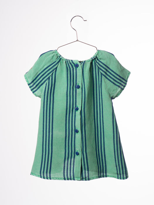 Striped Baby Dress B. C. emb - Oh Happy Fry  - 3