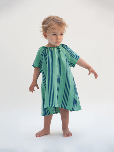 Striped Baby Dress B. C. emb - Oh Happy Fry  - 1