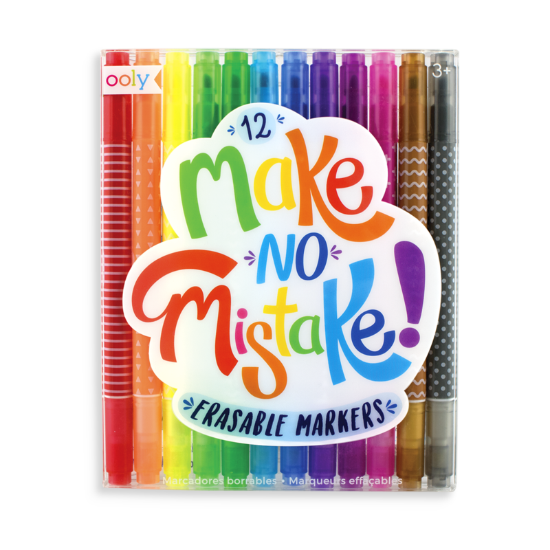 Make No Mistake Erasable Markers (Set of 12) - Oh Happy Fry - we ship worldwide