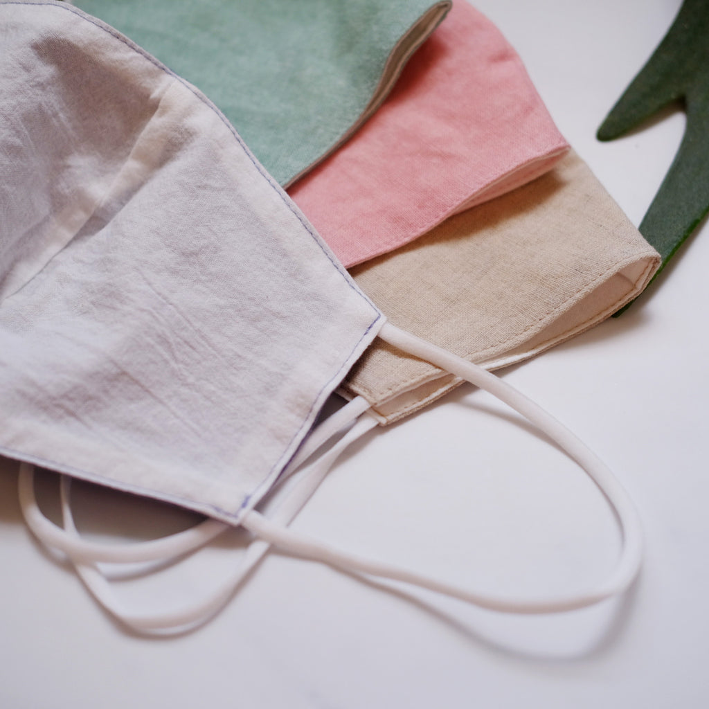 PREORDER Adult Cotton Linen Mask (mid July delivery) - Oh Happy Fry - we ship worldwide