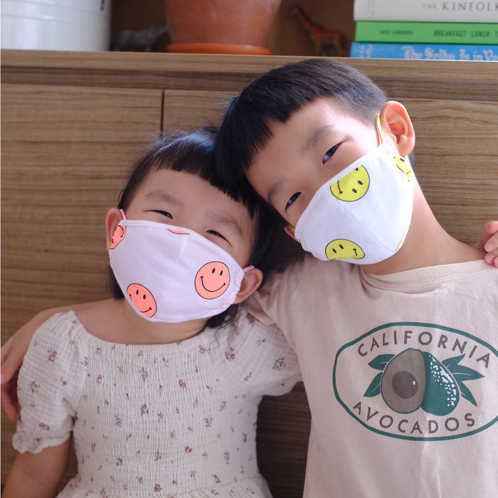 PREORDER Kids Smiley Mask (mid July delivery) - Oh Happy Fry - we ship worldwide