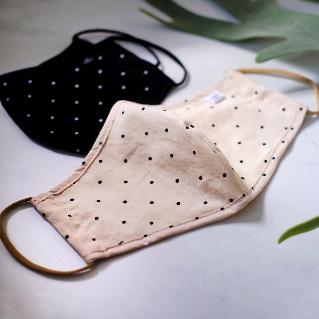 PREORDER Adult Cotton Dot Mask (mid July delivery) - Oh Happy Fry - we ship worldwide