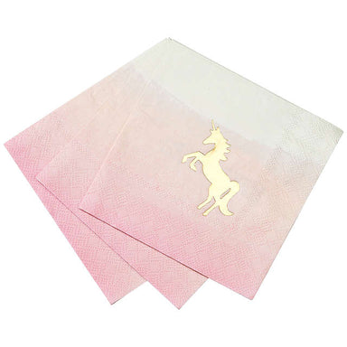 We Heart Unicorn Napkin - Pack of 16 - Oh Happy Fry - we ship worldwide