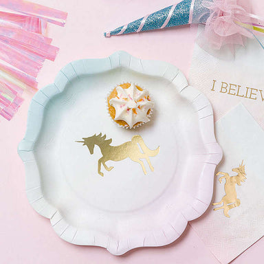 We Heart Unicorn Paper Plates - Pack of 12 - Oh Happy Fry - we ship worldwide