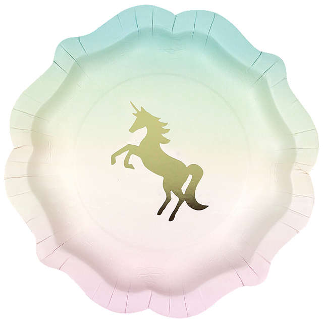 We Heart Unicorn Paper Plates - Pack of 12