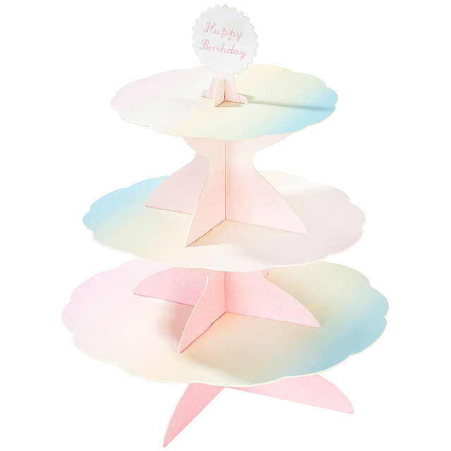 Pastel 3 Tier Cake Stand - Oh Happy Fry - we ship worldwide
