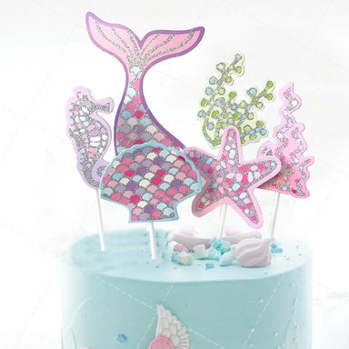 Mermaid Theme Cake Toppers
