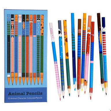 Ten Animal Colouring Pencils - Oh Happy Fry - we ship worldwide