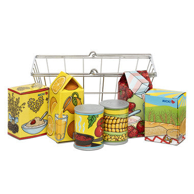 Shopping Basket with Products - Oh Happy Fry