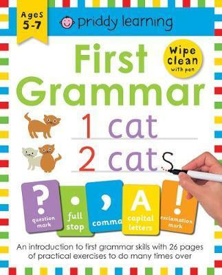 Wipe Clean: First Grammar (Paperback Book) - Oh Happy Fry - we ship worldwide