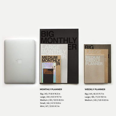 Medium Monthly Planner - 2 colours