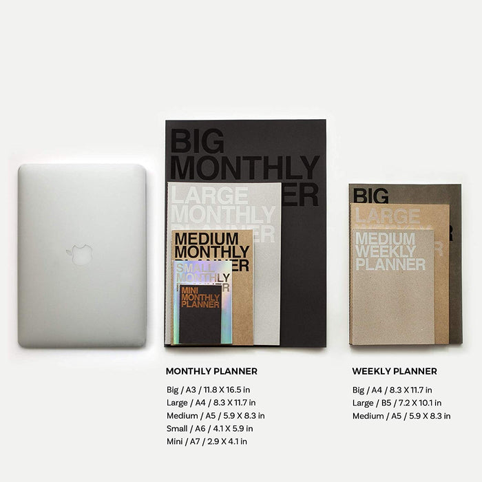 Medium Monthly Planner - 2 colours - Oh Happy Fry - we ship worldwide