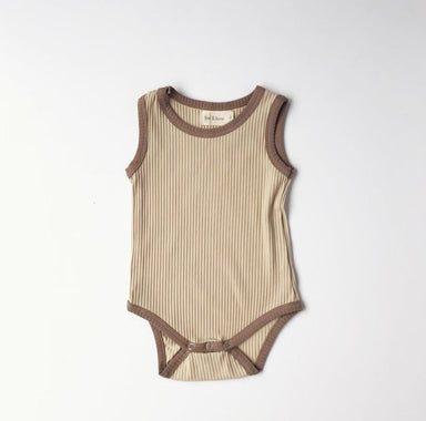 Retro Ribbed Onesie - Clay Beige - Oh Happy Fry - we ship worldwide