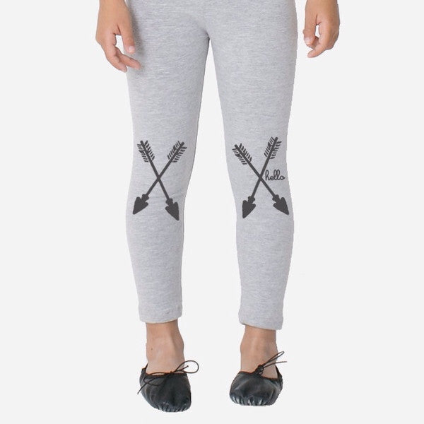 Arrow Grey Leggings - Oh Happy Fry  - 2