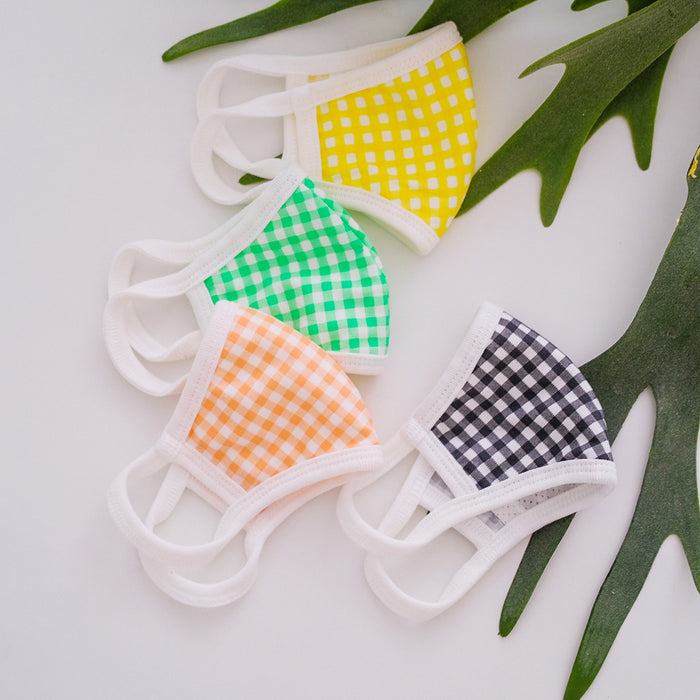 PREORDER Cotton Gingham Mask (mid June delivery) - Oh Happy Fry - we ship worldwide