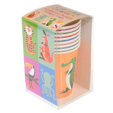 8 Colourful Creatures Paper Cups - Oh Happy Fry - we ship worldwide