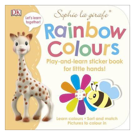 Sophie La Girafe Rainbow Colours : Play-and-Learn Sticker Book for Little Hands! (Paperback) - Oh Happy Fry - we ship worldwide