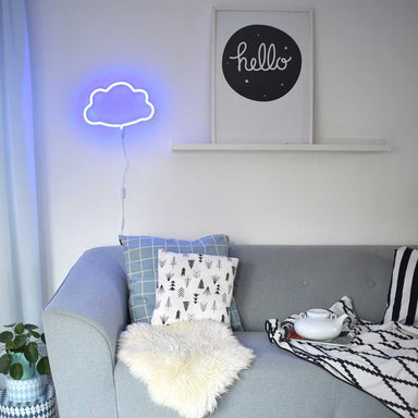 Cloud Neon Light - Blue - Oh Happy Fry - we ship worldwide