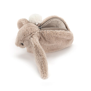 Bashful Bunny Beige Pouch Bag - Oh Happy Fry - we ship worldwide