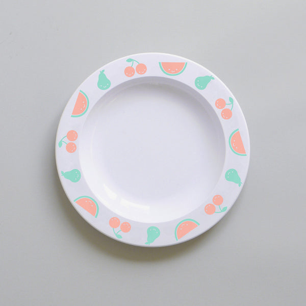Fruits Friends Melamine Plate - Colour - Oh Happy Fry  - 1