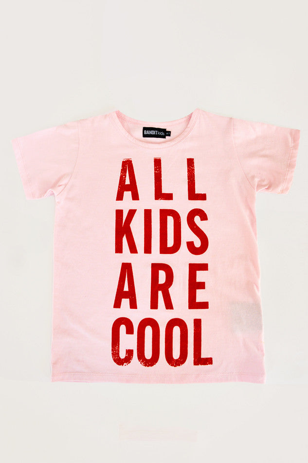 All Kids Are Cool T-shirt - Red - Oh Happy Fry  - 1
