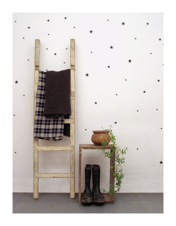 Black Star Wall Decal - Oh Happy Fry - we ship worldwide