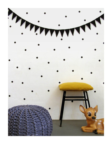 Black Dots Wall Decal - Oh Happy Fry  - 1