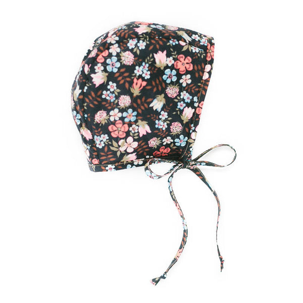 Cotton Liberty Bonnet - Midnight Bloom - Oh Happy Fry  - 1