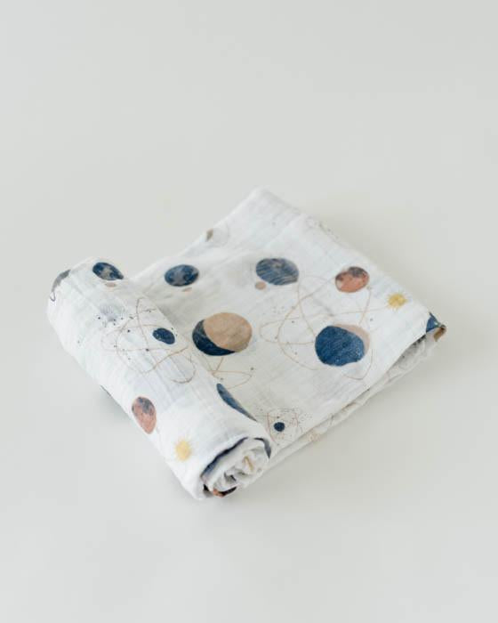 Cotton Muslin Swaddle - Planetary - Oh Happy Fry - we ship worldwide