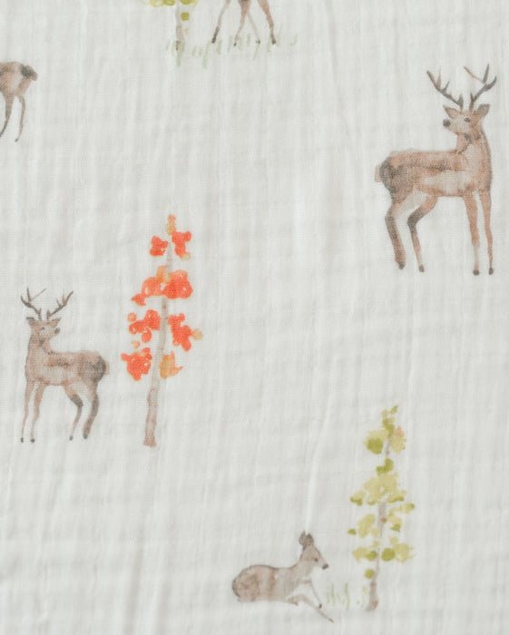Cotton Muslin Swaddle - Oh Deer