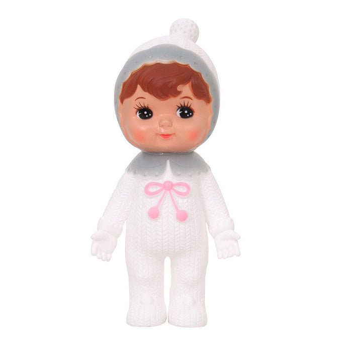 Limited Edition Snow Baby White/Grey Lapin Woodland Doll - Bobble