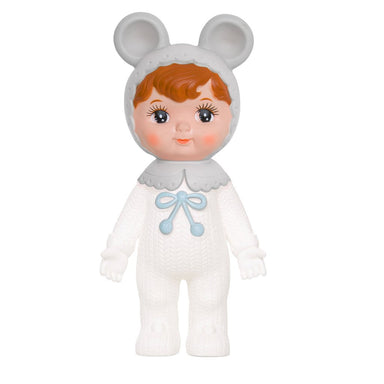 Limited Edition Snow Baby White/Grey Lapin Woodland Doll - Oh Happy Fry - we ship worldwide