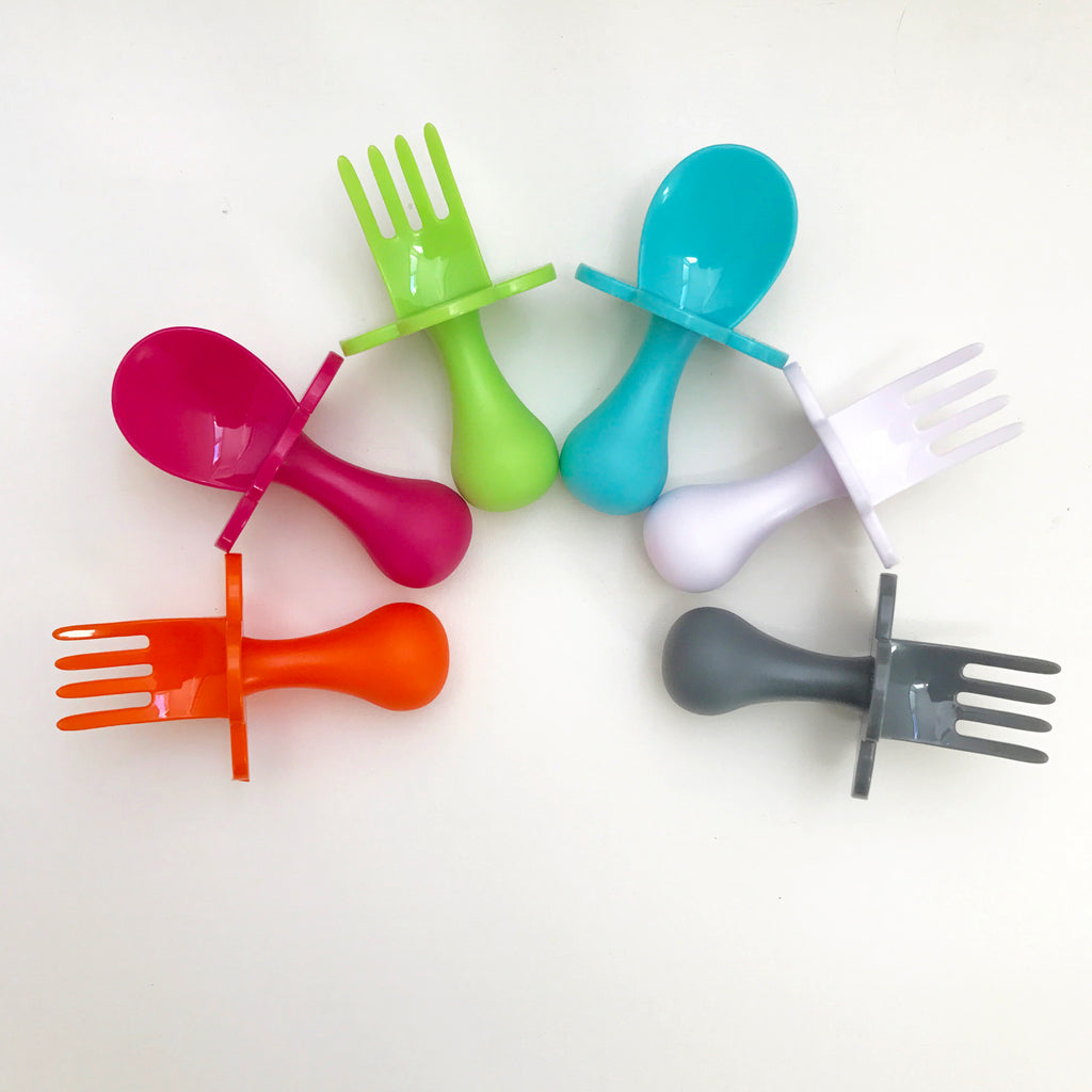Grabease First Self Feeding Utensil Set - 10 colours - Oh Happy Fry - we ship worldwide