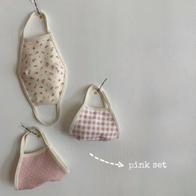 Cotton Mask - Pink Set