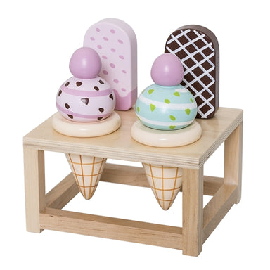 Bloomingville Wooden Ice Cream Play Set - Oh Happy Fry - we ship worldwide