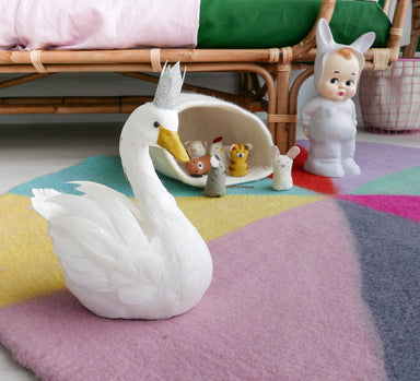 Swan with Crown - Oh Happy Fry - we ship worldwide