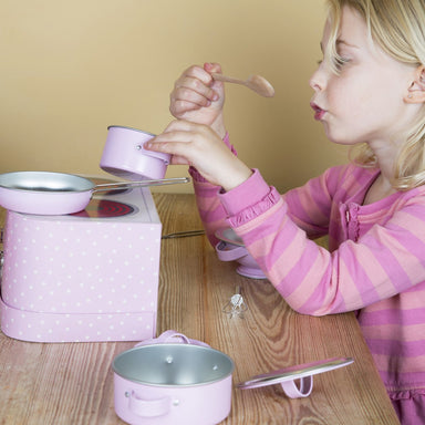 Pastel Pink Kitchen Cooking Playset