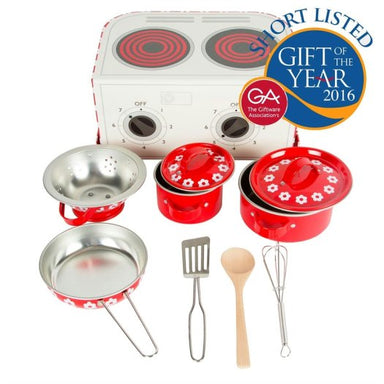 Red Daisies Kitchen Cooking Playset