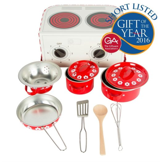 Red Daisies Kitchen Cooking Playset - Oh Happy Fry - we ship worldwide