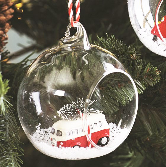 Camper Van Open Bauble - Oh Happy Fry - we ship worldwide
