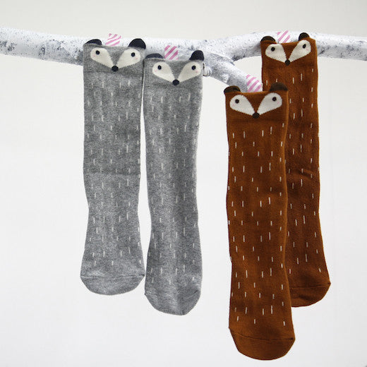 Raccoon High Socks - Oh Happy Fry  - 1