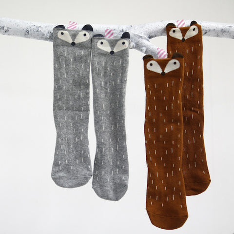 Raccoon High Socks