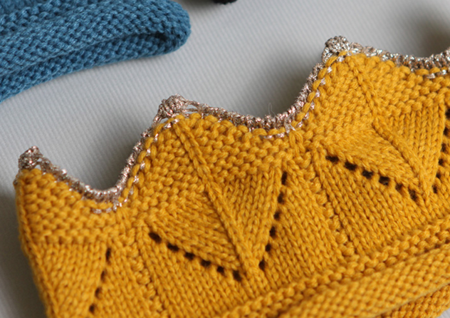 Knitted Crown - Ochre - Oh Happy Fry - we ship worldwide